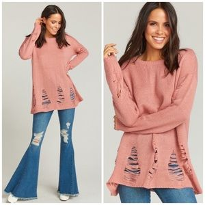 NWT Show Me Your Mumu Tamaya Distressed Sweater